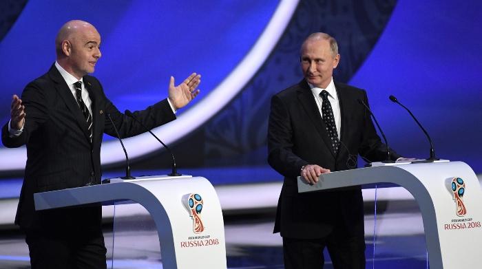 РУСИЯ приема Световното по футбол, Жребият: