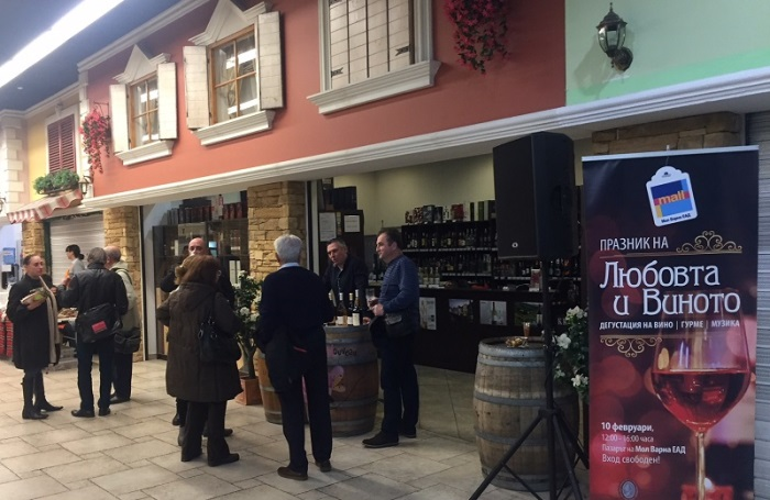 ПРАЗНИК на виното и любовта в МОЛ Варна