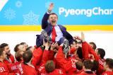 РУСКИТЕ хокеисти сами изпълниха химна си в Корея