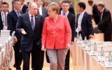 МЕРКЕЛ и МАРКОН на килимчето при Путин